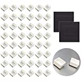 Watercolor Half Pans with Magnetic Stripe - 48Pcs White Plastic Empty Artist Paint Pan Kits for DIY Watercolor Oils or Acryli