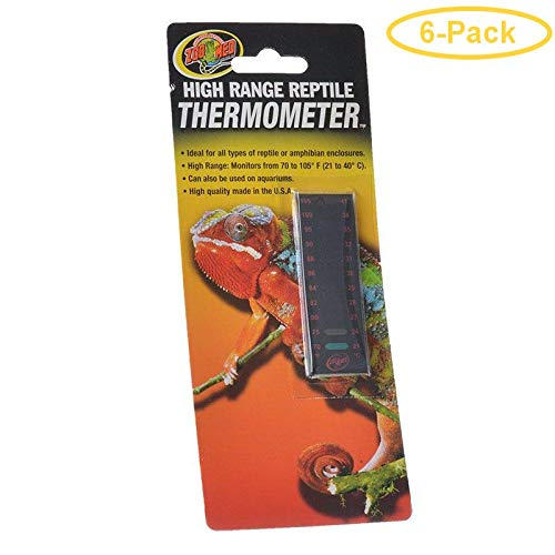 Zoo Med High Range Reptile Thermometer 70-105 Degrees F - Pack of - Med Thermometer High Range Zoo