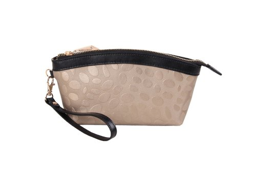 Women's stone-print cowhide leather Embossed Evening Clutch Bag Purse Handbag ()