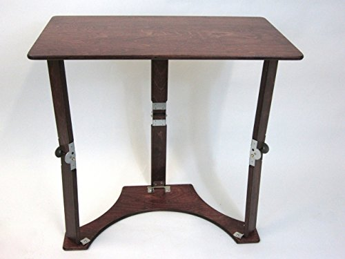 Spiderlegs Folding Laptop Desk Tray Table, 27-Inch, Mahogany