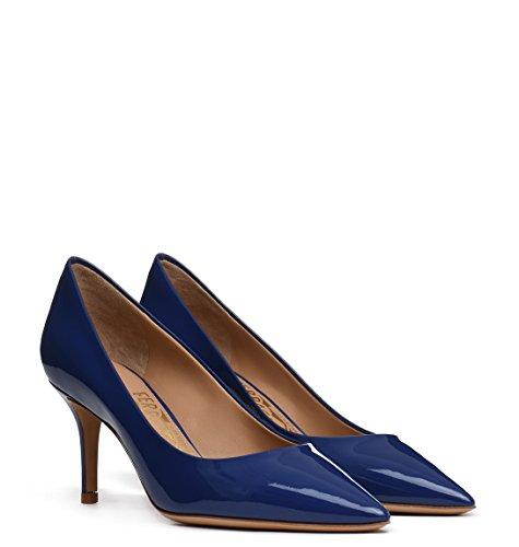 01F3880940634231 Cuir Escarpins Bleu Salvatore Femme Ferragamo Ux1YwRqBEP