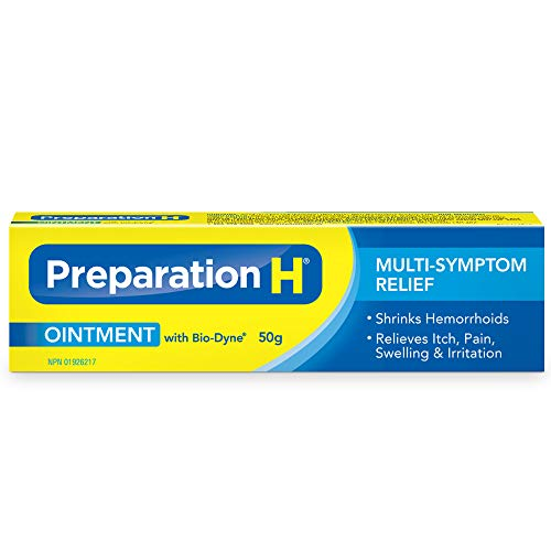 Preparation H® Ointment (50 g) with Bio-Dyne®, Multi-Symptom Hemorrhoid  Pain Relief