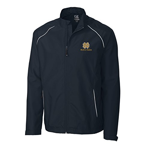Notre Dame Irish Jacket - NCAA Notre Dame Fighting Irish Adult Men CB Weathertec Beacon Full Zip Jacket, Large, Navy Blue