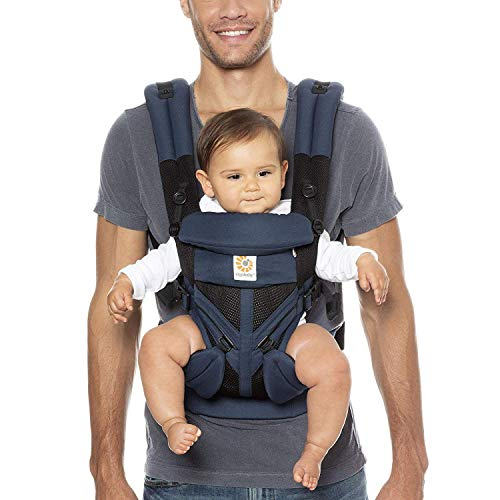 Ergobaby Omni 360 All-Position Baby Carrier for Newborn to Toddler with Lumbar Support & Cool Air Mesh (7-45 Lb), Black…
