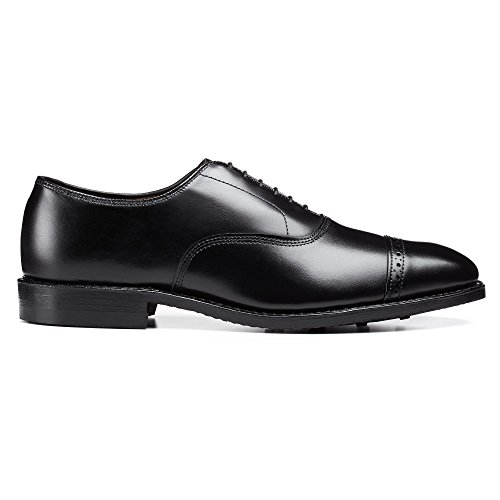 Allen Edmonds Mens Quinto Viale Cap Oxford Con Suole In Gomma Dainite Scarpe Oxford Nere