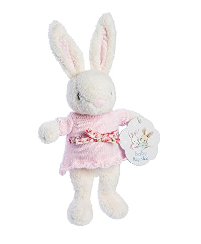 Ragtales Baby Fifi White Bunny Plush Rattle