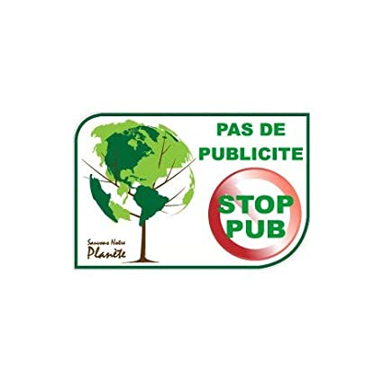 4 cm pas de pub stop pub new logo 535 arbre sticker autocollant Taille