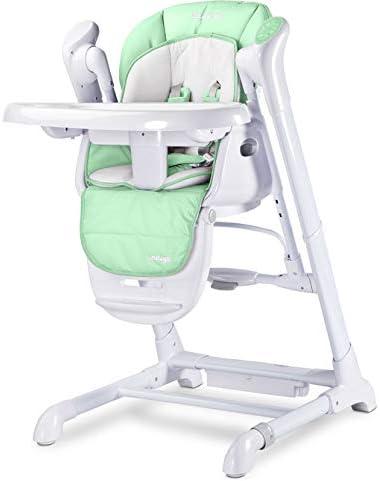 TERO-763 Indigo MINZE Chaise haute 2 en 1 pour b/éb/é avec balan/çoire /électrique Vert