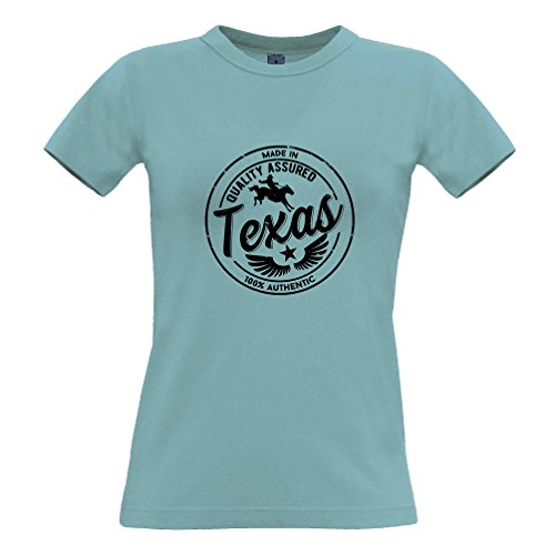 Tim and Ted Made in Texas Austin Houston Dallas NASA Seaworld Distressed T-Shirt Da Donna