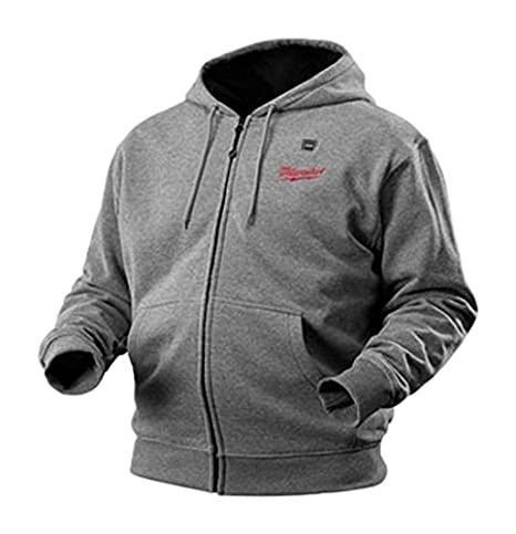 Milwaukee M12HHGREY-0 (L) M12 Grey Heated Hoody Size Large (Naked - no batteries or charger) NEW