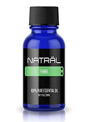 NATRÄL Fennel, 100% Pure and Natural Essential Oil, Large 1 Ounce Bottle