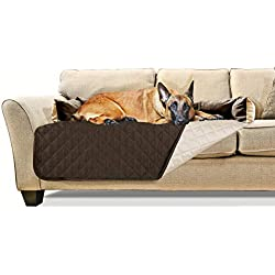 Furhaven Pet Furniture Cover | Sofa Buddy Two-Tone Reversible Water-Resistant Living Room Furniture Cover Protector Pet Bed for Dogs & Cats, Espresso/Clay, Extra Large