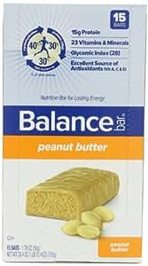 Balance Bar Complete Nutrition Energy Bar, Peanut Butter - 15 Count