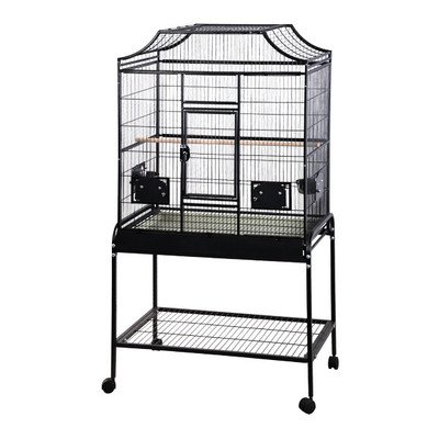 A&E Cage Co 32' x 21' x 61' Elegant Flight Cage, Black by A&E Cage Co.