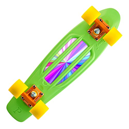 """Mightyskins Protective Vinyl Skin Decal Cover for Penny Board Original 22"""" Skateboard Cover wrap sticker skins Rainbow Zoom"""