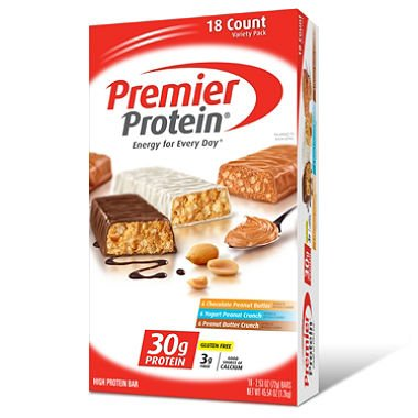 Premier Protein Bar Variety Pack (2.53 oz., 18 ct.) (pack of 6)