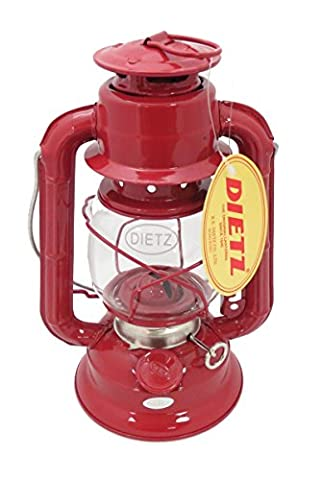 Dietz #50 Comet Oil Burning Lantern (Red) - Fount Base