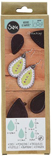 Sizzix 660592Ellison Movers and Shapers Teardrop Stack Magnetic Die Set by Jill MacKay