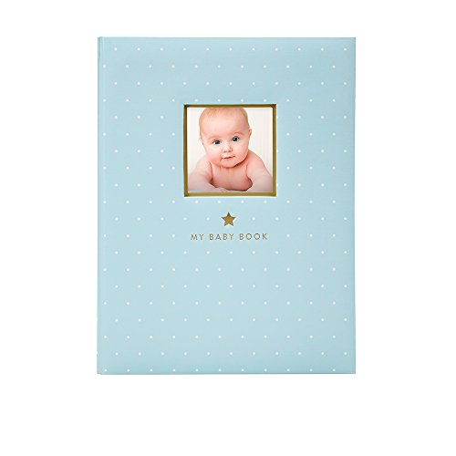 Little Blossoms by Pearhead 5 Year- Sweet Welcome Keepsake Babybook, Great Baby Shower Gift, Keepsake Journal for Baby Boy, Blue