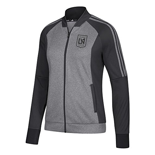 adidas MLS LAFC Women's Anthem Jacket, Large, Black Heathered