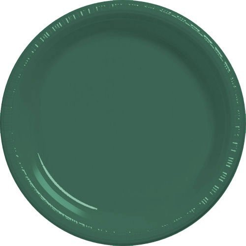 Forest Green Plastic Dinner Plates (20 count)