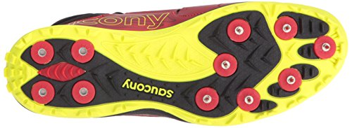 Saucony Mens Lanzar Jav2 Track and Field Shoe Red/Citron