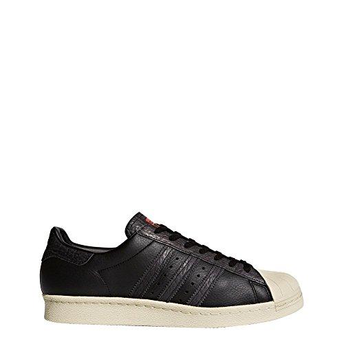 adidas Superstar 80s, Scarpe Sportive Uomo Core Black / Core Black / Solar Red