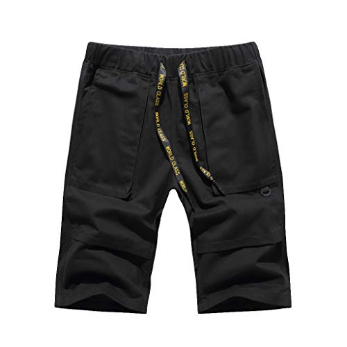 Price comparison product image MOSERIAN Fashion Men's Casual Pure Color Pocket Overalls Wind Overalls Shorts
