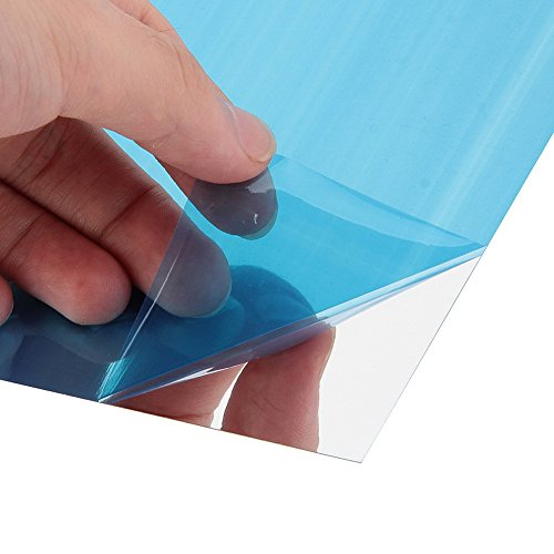 BITTO ultra-thin Acrylic Mirror Wall Stickers, Bathroom self-adhesive mirror and DIY Decor Adhesive Square Mirrors Stickers for Wall Decor 15x15x0.1mm (Acrylic Square Mirror)