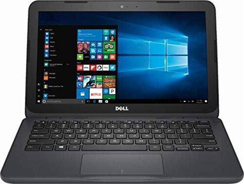 Dell Inspiron 11 3000 Laptop/Netbook, AMD A6-9220e Processor up to 2.4 GHz, 4GB DDR4, 32GB eMMC SSD, Radeon R4 Graphics, WiFi, Webcam, Bluetooth, Windows 10, Gray
