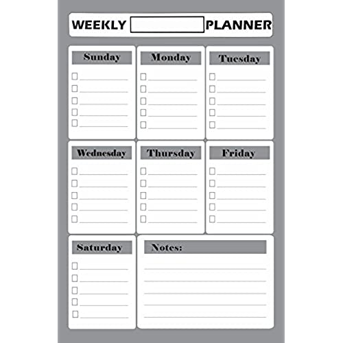 Dry Erase Weekly Calendar Planner 11x17 inch | Magnetic ...
