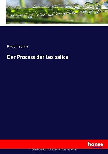 Der Process der Lex salica (German Edition)