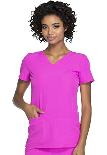 HeartSoul Break On Through Women's Pitter-Pat V-Neck Solid Scrub Top X-Large Glam - Top Missy V-neck