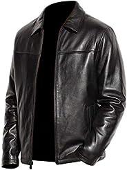 OrthoZahab Black Leather Jacket for Men M6