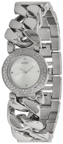 GUESS Women's U11662L1 Shine and Sparkle Chain Bracelet Watch