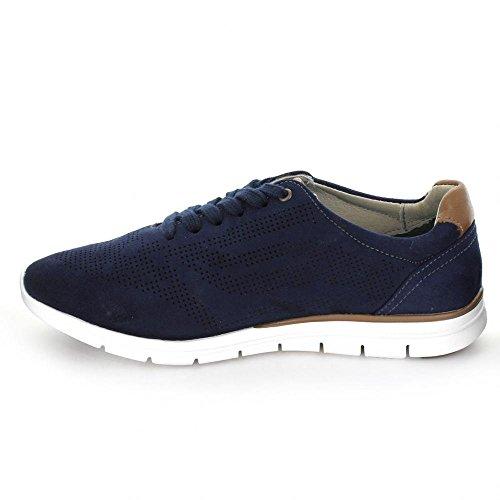 de para Mujer Zapatillas 44301 Azul Tenis Flexi qOEpHT