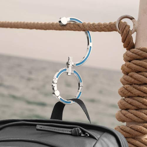 Hang Anything Anywhere Non-Locking Carabiner Rotating Hook Clip Versatile Purse Hook 66lbs Weight Capacity Heavy Duty