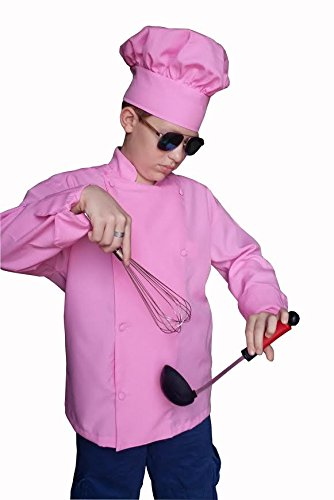 custom embroidery kids child pink chef jacket with hat best gift ever personalized - Best Gift For A Chef
