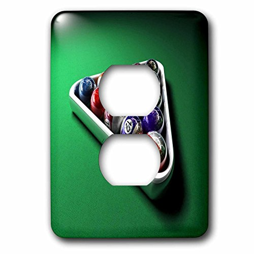 3dRose lsp_224304_6 Image of Ballard Balls on Pool Table 2 Plug Outlet Cover ()