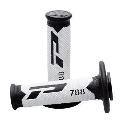 Progrip 788 Pa078800NWT Progrip Motocross Handlebar Grips Black / White / Grey