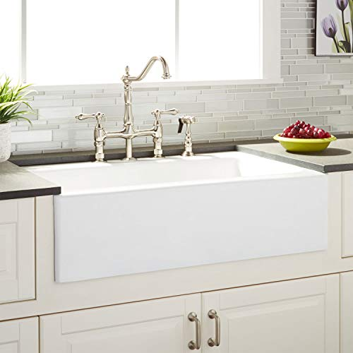 Signature Hardware 423060 Almeria 33' Farmhouse Single Basin Cast Iron Kitchen Sink