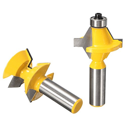 2pcs 1/2 Inch Shank Groove Router Bit Set Woodworking Cutter by SPS_IN (Image #2)