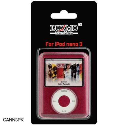 3rd Gen Ipod Nano Accessories (Premium Crystal Case for IPOD NANO 3rd Gen / Pink)