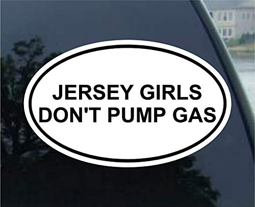 Vinyl Overlays 720 Magnet Jersey Girls Dont Pump Gas Oval Bumper Magnetic Sticker 5