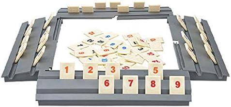 Divertido Juego de Rompecabezas Israel Mahjong Fast Moving Rummy Tile Juego Familiar Versión de Viaje Juego de Mesa clásico - Madera: Amazon.es: Hogar