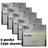 Oil Control Paper Green Tea 250 pcs Absorbing Tissue Face Blotting Made in Korea
