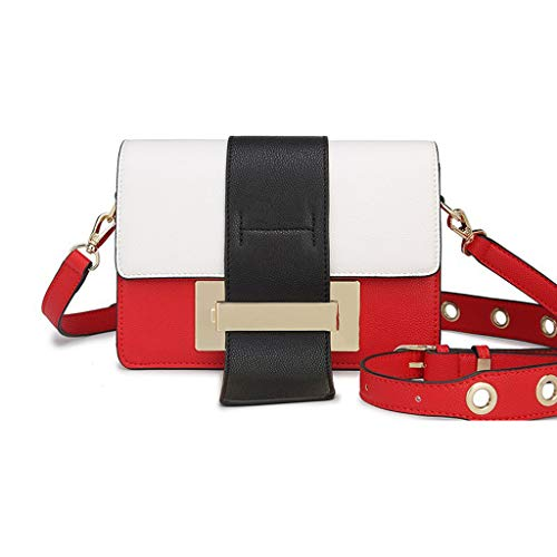 Sac Red Crossbody femme à à bandoulière Medium pour coréen PU Sac Multicolor Lxf20 main n4qfYwBO