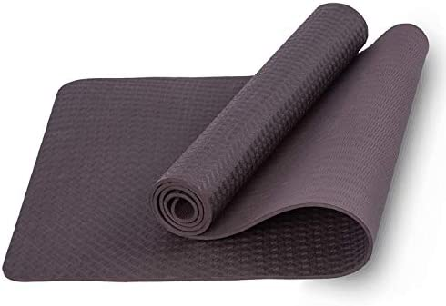 Gf Yoga Mat 1 4 Extra Thick Exercise Mat With Carrying Strap Non Slip Workout Mat For Yoga Pilates Stretching Meditation Floor Fitness Exercises Buy Online At Best Price In Uae