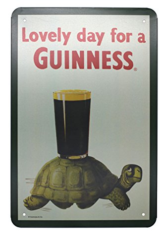 - Lovely Day for a Guinness, Metal Tin Sign Art Poster, Vintage Plaque Kitchen Living Room Bar Pub Home Wall Decor