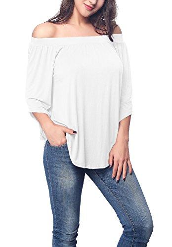 iGENJUN Womens Sleeve Shoulder Blouse